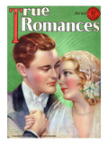 True Romances Vintage Magazine - June 1931 - By Jules Cannert Print by Jules Cannert