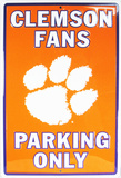 Clemson University Parking Only Tin Sign
