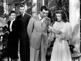 The Philadelphia Story, Ruth Hussey, James Stewart, Cary Grant, Katharine Hepburn, 1940 Photo