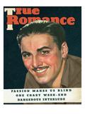 True Romances Vintage Magazine August 1937 Errol Flynn Warner Bros Poster by Georgia Warren