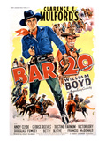 Bar 20, William Boyd, 1943 Posters