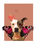 Pittie My Heart Premium Giclee Print by Natasha Wescoat