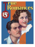 True Romances Vintage Magazine - September 1933 - Douglas Fairbanks Jr And Patricia Ellis Giclee Print by George Wren