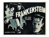 Frankenstein, Boris Karloff, 1931 Plakaty
