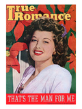 True Romance Vintage Magazine - December 1944 - Cover Trudy Marshall &quot;Bon Voyage&quot; Giclee Print by  Macfadden Studios