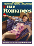 True Romances Vintage Magazine - August 1938 - Cover Carol Hughes Warner Brothers Giclee Print by Robert Reid