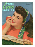 True Love Stories Vintage Magazine - September 1945 Prints by  Macfadden Studios