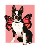 Fairy Boston Terrier Premium Giclee Print by Natasha Wescoat