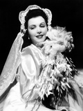 Ann Miller, Modeling a Wedding Ensemble, 1941 Photo