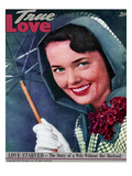 True Love Stories Vintage Magazine - April 1949 - Kodachrome Giclee Print by Charles E. Kulhawy