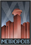 Metropolis Retro Travel Poster Plakaty