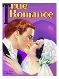 True Romances Vintage Magazine - January 1931 - Stanley Smith And Mary Lawlor, Painted By Jules Can Poster by Jules Cannert