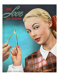 True Love and Romance Vintage Magazine - November 1947 - Kodachrome Giclee Print by Charles Kellaway