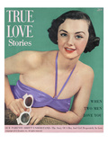 True Love Stories Vintage Magazine - August 1950 - Ektachrome Giclee Print by Charles E. Kulhawy