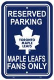 Toronto Maple Leafs Parking Sign Wall Sign