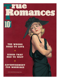 True Romances Vintage Magazine - January 1937 - Carole Lombard painted Prints by Georgia Warren