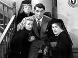 Arsenic and Old Lace, Priscilla Lane, Jean Adair (Back), Cary Grant, Josephine Hull, 1944 Photo