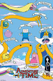 Adventure Time - Grid TV Poster Poster