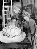 Little Annie Rooney, Mary Pickford, With Niece, Mary Pickford Celebrating Her Birthday On-Set, 1925 Photo