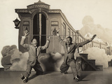 Sun Valley Serenade, Nicholas Brothers, 1941, Doing A Dancing Split Photo