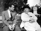 Advise And Consent, Don Murray, Charles Laughton, 1962, Park Bench Photo