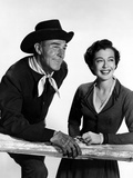 Seven Men From Now, Randolph Scott, Gail Russell, 1956 Photo