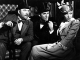 The Adventures Of Sherlock Holmes, Nigel Bruce, Basil Rathbone, Ida Lupino, 1939 Photo