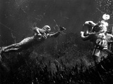 Creature From The Black Lagoon, Shooting Underwater Scene, 1954 Photo
