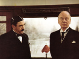 Murder On The Orient Express, Albert Finney, John Gielgud, 1974 Print