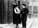 Easy Street, Edna Purviance, Charles Chaplin, 1917 Photo