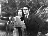 Bringing Up Baby, Katharine Hepburn, Cary Grant, 1938 Photographie