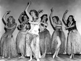 Dance, Girl, Dance, Lucille Ball, 1940, Dancing A Hula With The Chorus Girls Photo