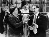 A Night At The Opera, Chico Marx, Sig Rumann, Groucho Marx, 1935, Negoitating The Contract Photo