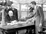 It&#39;s A Wonderful Life, Lionel Barrymore, Frank Hagney, James Stewart, 1946 Photo