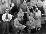 Freaks, Director Tod Browning And Cast Members On Set, 1932 Kunstdrucke