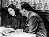 Ninotchka, Greta Garbo, Melvyn Douglas, 1939, Laughing Photo