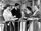 Three Coins In The Fountain, Jean Peters, Louis Jourdan, Maggie McNamara, Dorothy McGuire, 1954 Print