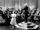 One Hundred Men And A Girl, Deanna Durbin, Leopold Stokowski, 1937, Singing With Symphony Orchestra Photo
