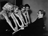 Footlight Parade, James Cagney, Getting His Fingers Slammed By Chorus Girls, 1933 Photo