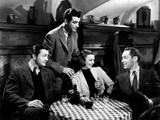 Three Comrades, Robert Young, Robert Taylor, Margaret Sullavan, Franchot Tone, 1938 Photo