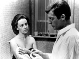 La Notte, Jeanne Moreau, Marcello Mastroianni, 1961 Photo