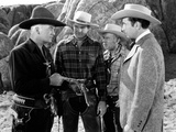 Bar 20, William Boyd, George Reeves, Andy Clyde, Victor Jory, 1943 Photo