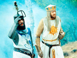 Monty Python And The Holy Grail, Terry Jones, Graham Chapman As King Arthur, 1975 Photo
