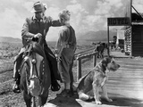Shane, Alan Ladd, Brandon De Wilde, 1953 - Photo