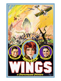 Wings, Richard Arlen, Clara Bow, Charles (Buddy) Rogers, 1927 Photo