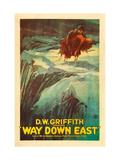 Way Down East, Richard Barthelmess, Lillian Gish, 1920 Photo