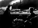 The Seventh Seal, Bengt Ekerot, Max Von Sydow, 1957 Fotografía