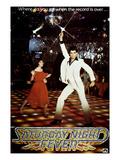 Saturday Night Fever, Karen Lynn Gorney, John Travolta, 1977 Prints