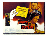 Murder By Contract, Vince Edwards, Caprice Toriel, 1958 Posters
