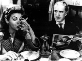 Monsieur Verdoux, Martha Raye, Charlie Chaplin, 1947 Photo